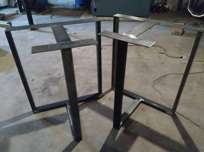 Amazon Com Metal Table Legs T Shaped Table Base Industrial Table