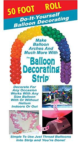 Ladybug 51711 Strip Balloon Decorating Accessory, 50', Clear
