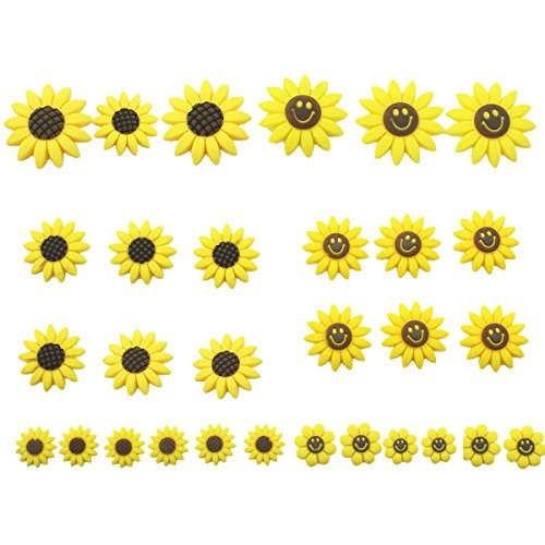 30 Pcs of Silicone Sunflower DIY Flower Heahbands,Hairclips Magic Embellishments(without clips) (Diy Group Halloween Costume Ideas)