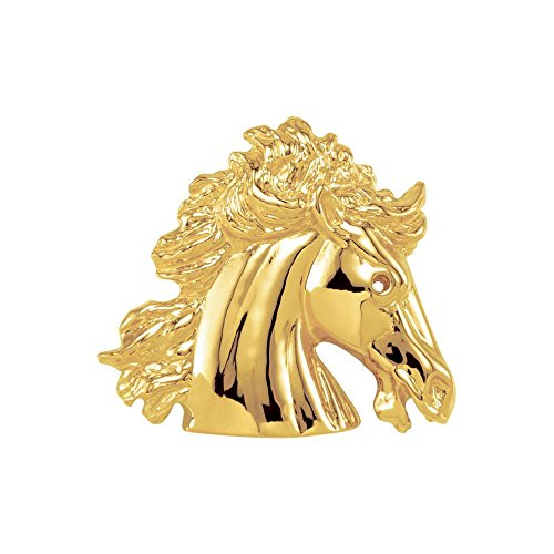 14k Yellow Gold The Magnificent Lipizzaner Horse 28.30X31.30mm Pendant