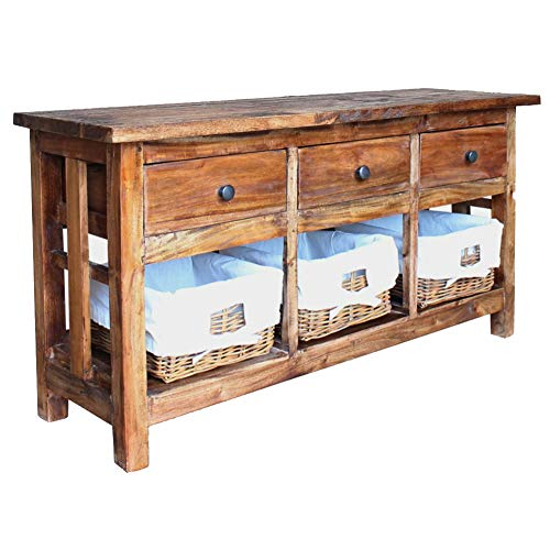 BLUECC Sideboard 100% Solid Reclaimed Wood Buffet table39.4