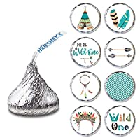 He is a Wild One Label for HERSHEY'S KISSES® chocolates - Envelope Seal Candy Stickers - Set of 240
