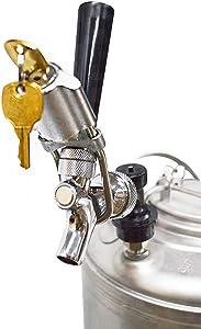 Beer Tap Lock, CellarBrew Beer Tap Lock for Draft Beer Faucet, Homebrew Keg Equipment (2 Keys)