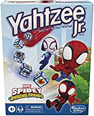 Hasbro Gaming Yahtzee Jr. Marvel Spidey and His Amazing Friends Edition Board Game for Kids Ages 4 and Up, Cou