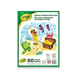 Crayola 61-2009 Marker and Watercolour Pad, School and Craft Supplies, Gift for Boys and Girls, Kids, Ages 3,4, 5, 6 and Up, Stocking , Arts and Crafts,  Gifting