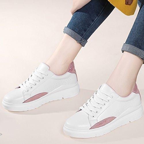 NGRDX&G Zapatos Blancos Estudiante Casual Zapatos Mujer Zapatos Deportivos Zapatos, Blanco Rosa A, 39 39|A white Pink