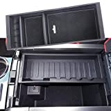 JDMCAR Compatible for Ford F150 2015 - 2018 Accessories, Original Car Storage Box Combined Version, Center Console Organizer Insert ABS Black Materials Tray