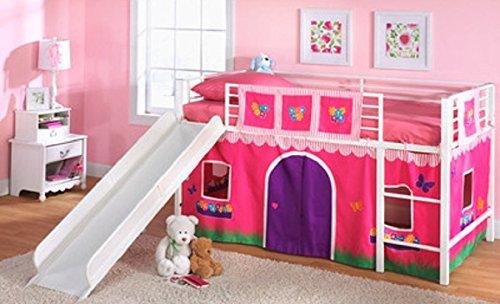 Amazon Com K Mart Flower Shop Slumber N Slide Loft Bed Curtain