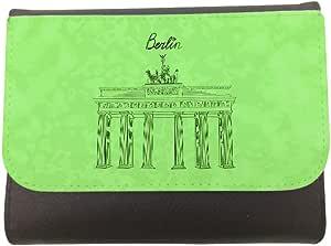 محفظة جلد  بتصميم معالم عالمية - متحف برلين ، مقاس 11cm X 14cm