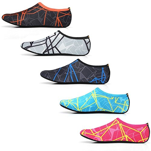 WOWFOOT Water Barefoot Skin Shoes Aqua Socks Flexible Beach Swim Surf Sand Pool Yoga Aerobics Exercise