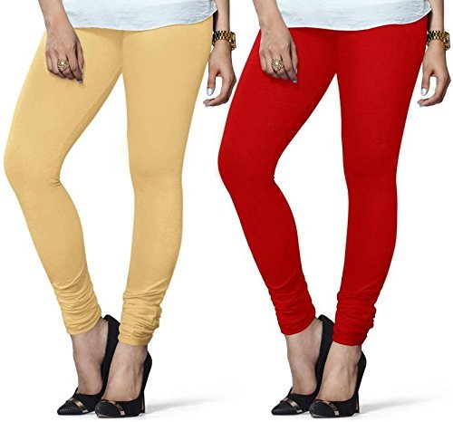 c7c131fc78073 LUX LYRA Women's Cotton Leggings (Beige, Red, 36) - Pack of 2: Amazon.in:  Clothing & Accessories