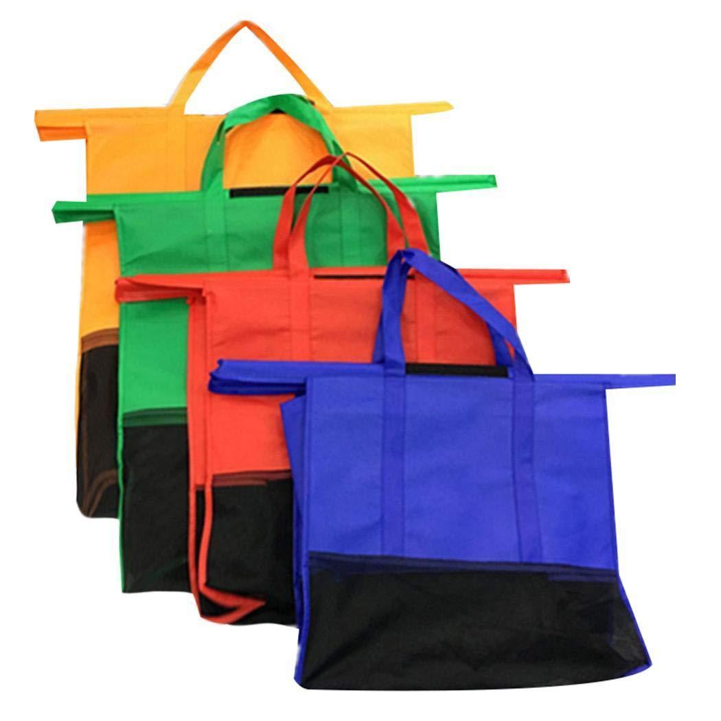 Lanbter Reusable Large Capacity Foldable Solid Supermarket Handbag Shopping Bags Shopping /& Merchandise Bags