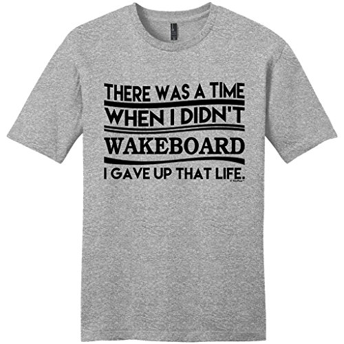 Wakeboarding Gift was a Time I Didn't Wakeboard Young Mens T-Shirt Small LtHtr