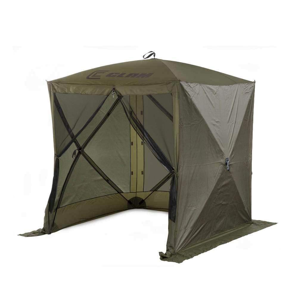 QUICK-SET Clam Traveler Portable Camping Outdoor Canopy Shelter 3 Wind Panels