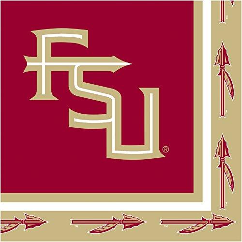 Creative Converting Collegiate 20 Count Florida State University Lunch Napkins, - Florida University State Collegiate