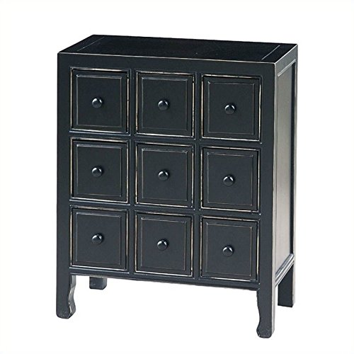 - Wayborn Home Furnishing Suchow 9 Drawer CD Chest, Black
