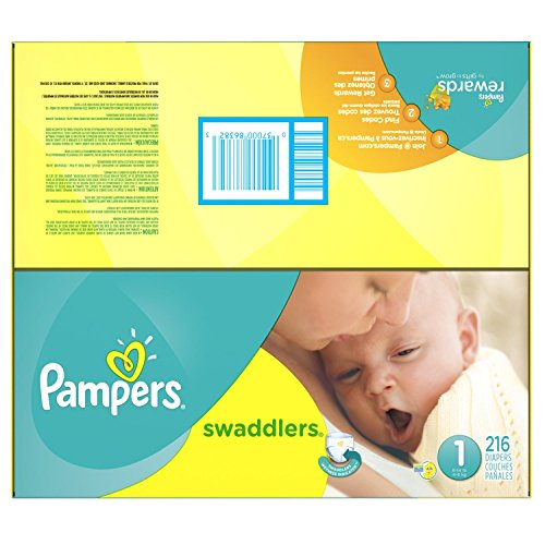 Amazon.com : Pampers Swaddlers Diapers Size 1 Economy Pack Plus 216 Count : Baby
