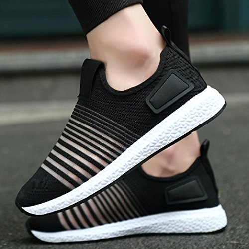Shoes Travel Black Breathable Stitching Shoes Fitness Spring Fashion Men's Lightweight Sneakers Sport Jogging Bovake Shoes Trainers Casual Flats Casual Gym Running Sneakers qOw4BB0x