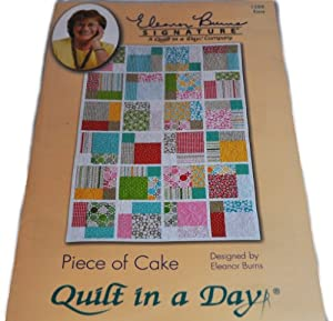Amazon.com: Piece of Cake Quilt in a Day Pattern: Kitchen & Dining