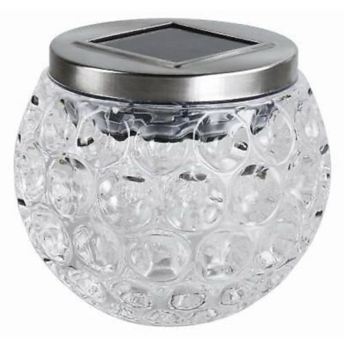 Garden Mile Solar Powered Glass Solar Lights LED Lantern Night Lights Party Lights, Weatherproof Crystal Glass Globe Ball, Best Table Lamps for Bedroom, Party, Garden, Patio, Yard, Outdoor / Indoor Decoration Led Lighting Garden Mile®