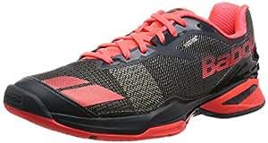 Babolat Men's Jet All Court Tennis Shoes (Grey/Red) (8 D(M) US)