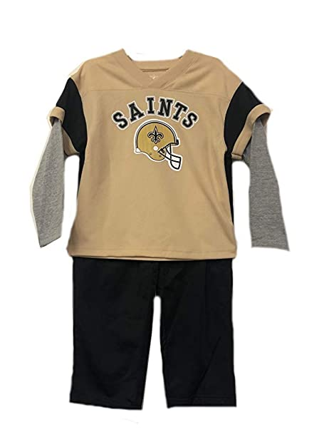 9e85e2fd0 New Orleans Saints NFL Toddler 2 Piece Long Sleeve Shirt   Pants Set (Toddler  2T