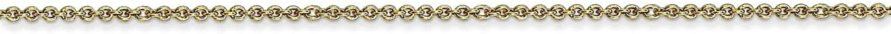 Lex /& Lu 10k Yellow Gold 1mm Cable Chain Necklace