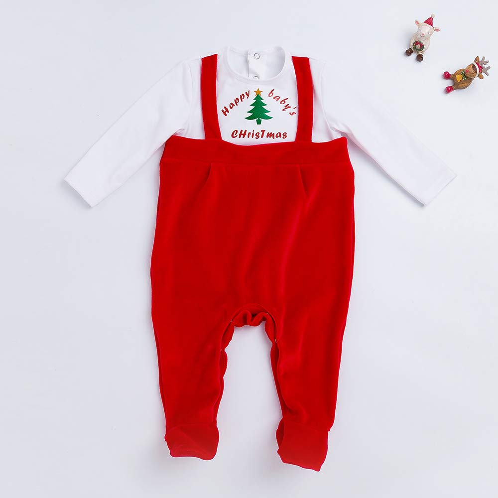 Yukeyy Babys First Halloween Christmas Costume Newborn Unisex Jumpsuit Baby Cosplay Outfits Romper
