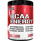 Evlution Nutrition BCAA Energy - High Performance, Energizing Amino Acid Supplement for Muscle Building, Recovery, and Endurance, Fruit Punch (30 Servings)