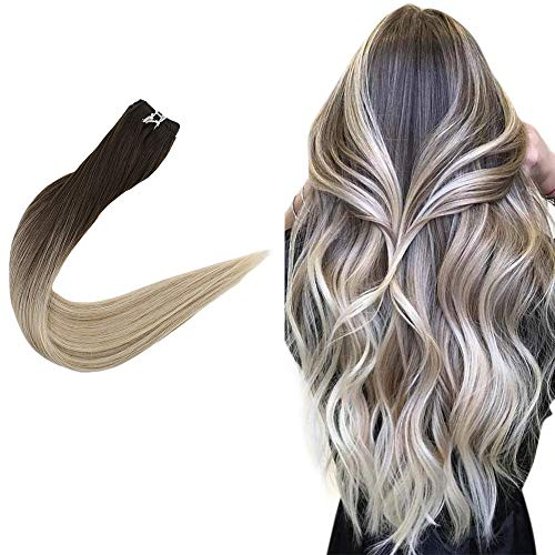 Real Hairpiece Hair Bundles Remy Human Hair Sew in Hair Extensions, Easyouth Natural and No Smell Hair Extensions (14