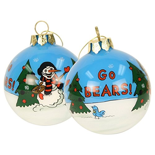 Scottish Christmas Chicago Bears Hand Painted Ball Ornament