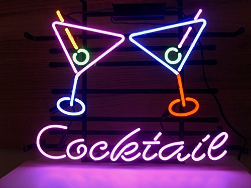 Cocktail Martini Real Glass Neon Light Sign Home Beer Bar Pub Recreation Room Game Room Windows Garage Wall store Sign (17