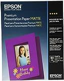 Epson Premium Presentation Paper MATTE (8.5x11 Inches, 50 Sheets) (S041257)