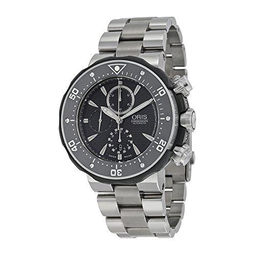 Oris Men's 674 7630 7154MB Prodiver Chronograph Set Watch