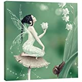 Tree-Free Greetings EcoArt Home Decor Wall Plaque, 11.25x11.25-Inch, Lily Of The Valley Themed Rachel Anderson Art (85498)