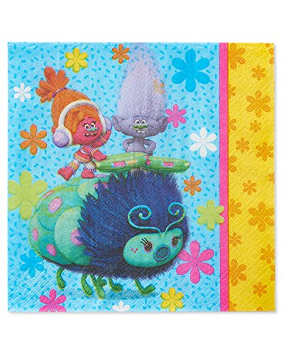 American Greetings Trolls Lunch Napkins 1 PACK OF 16 -