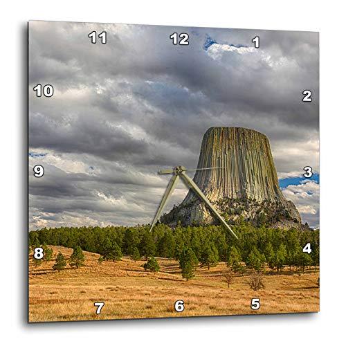 - 3dRose Danita Delimont - Wyoming - Wyoming, Devils Tower National Monument. - 10x10 Wall Clock (DPP_315234_1)