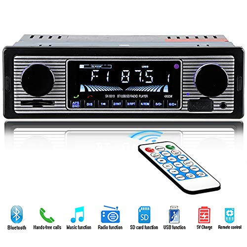 HERCHR Car Radio Player Bluetooth with Dual Knob USB/SD/MP3, used for sale  Delivered anywhere in USA
