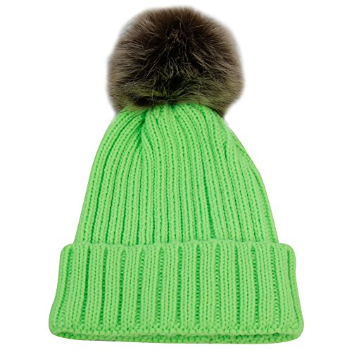 Patricks Day Knit Cap (JIBIL Unisex Wool Ball Chriatmas Beanie, Fashion Thick Knit Beanie For ST. Patrick's Day Flo Green)