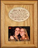 "SISTER-IN-LAW Laser & Poetry Oak Picture Frame ~ Wonderful Keepsake frame for a Sister in Law ~ Holds a 2.5""x3.5"" Photo ~ Birthday or Christmas Gift Idea!"