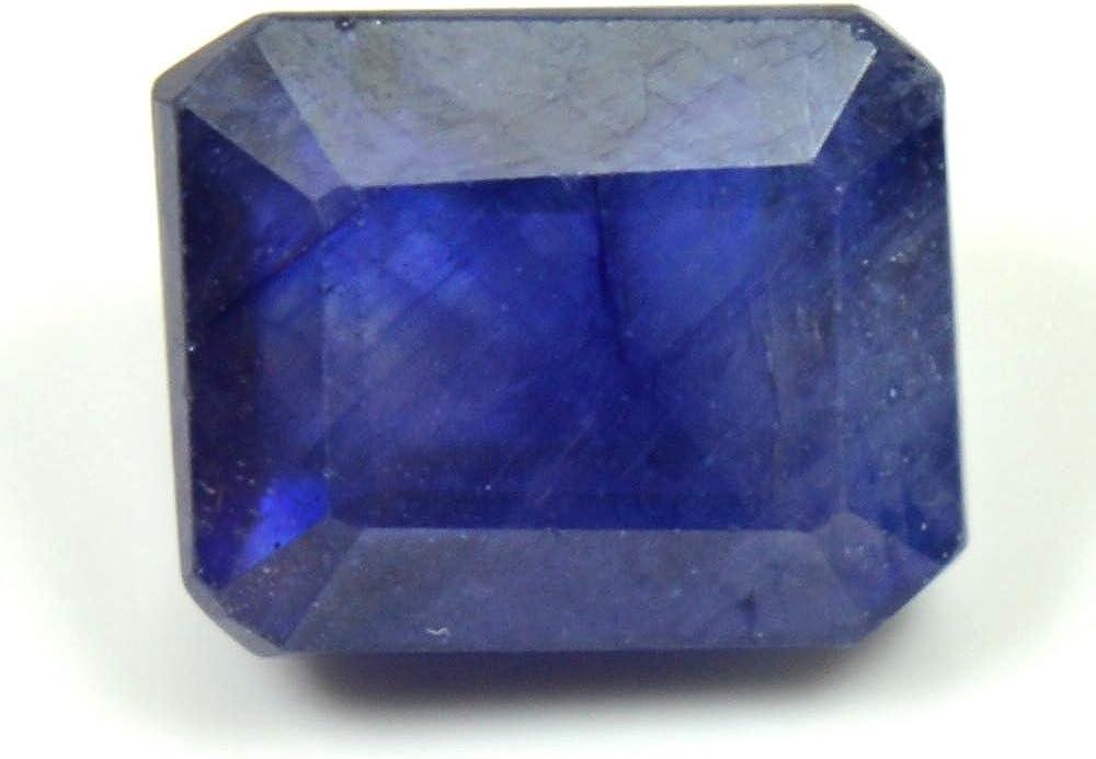 Gemsyogi 10X8 MM Naturel Saphir Bleu en Vrac Gemstone Octogone Forme Pierre /à Facettes pour lart Et Lartisanat