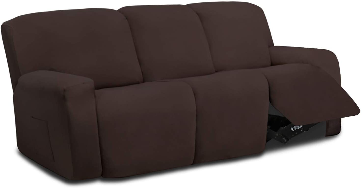51W6lqUWtjL. AC SL1500 - Best Slipcovers For Leather Sofas and Couches (Non-Slip) - ChairPicks