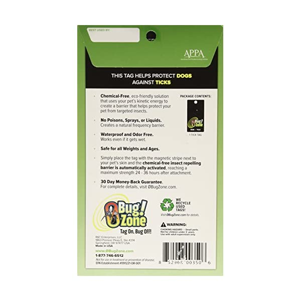 0Bug!Zone Dog Tick Barrier Tag, Single Pack Click on image for further info. 2