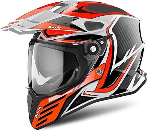 Airoh CMCA32 Commander Carbon Orange Gloss XS (Evolution Helmet Carbon)