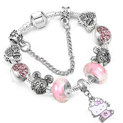 Gift for Girlfriend Dropshipping Brand new Cartoon Charm Bracelets With regard to Children Crystal Murano Drops Fine Bracelets; Bangles Pulseras Mujer Design