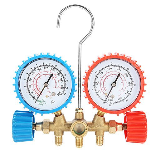 Acouto Refrigerant Air Conditioning Tools AC Diagnostic Manifold Gauge Set W/Hose and Hook Kit by Acouto (Image #1)