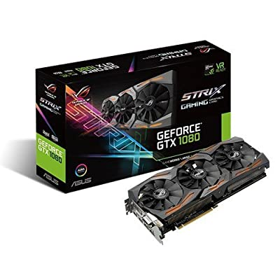 ASUS GeForce GTX 1080 8GB ROG STRIX OC Edition Graphic Card STRIX-GTX1080-O8G-GAMING by ASUS Computer International Direct
