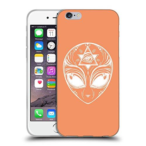 GoGoMobile Coque de Protection TPU Silicone Case pour // Q09010607 extraterrestre 2 Mandarine // Apple iPhone 7