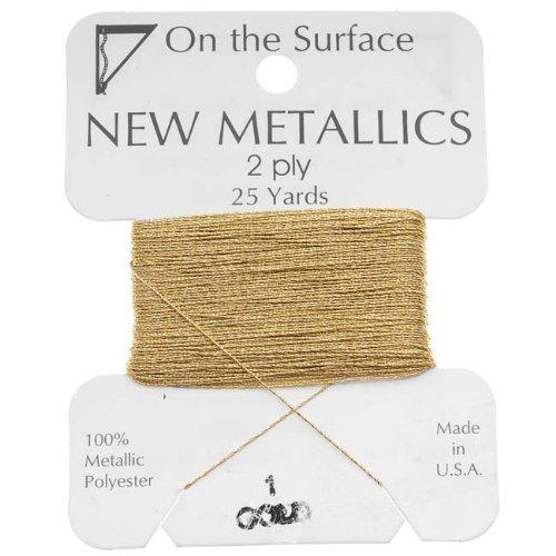 hread - Gold Tone 2 Ply Thread For Embellishments 25 Yd (Gold Tone Thread)