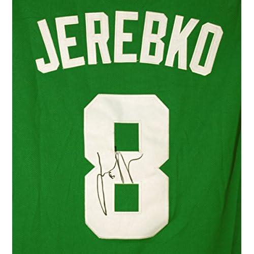 5a4f478f5 best Jonas Jerebko Boston Celtics Signed Autographed Green #8 Jersey Size L